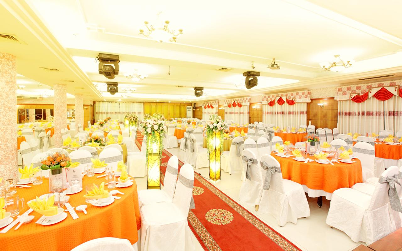 Sảnh tiệc cưới nhà hàng đồng khánh sử dụng vách ngăn di động