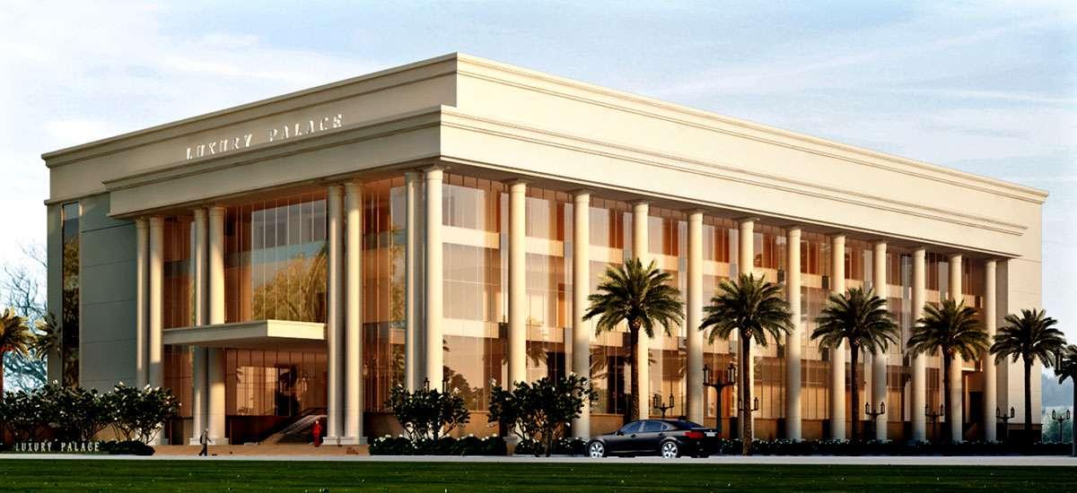 không gian tổng quát nhà hàng luxury palace