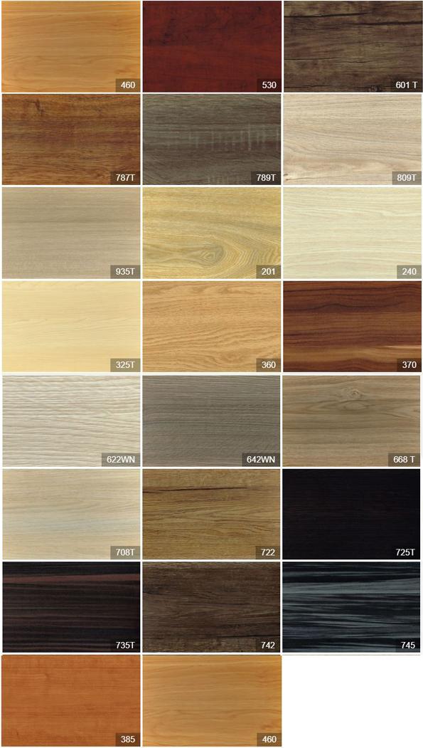 Bảng màu vẫn gỗ MDF, MFC của công ty gỗ Thanh Thùy